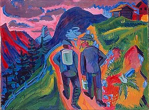 Ernst Ludwig Kirchner - Alp path after a thunderstorm