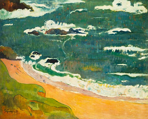 Paul Gauguin - Beach near Le Pouldu