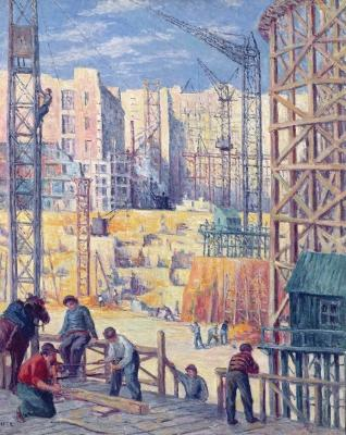Maximilien Luce - Building Site in Paris, quai de Passy