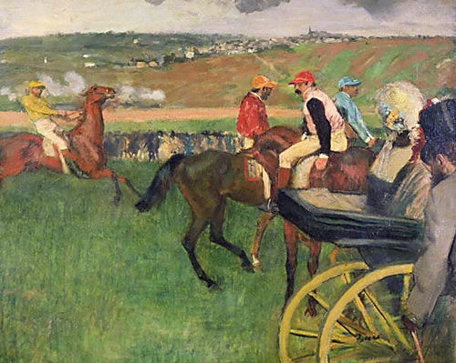 Edgar Degas - Carriage on the racecourse