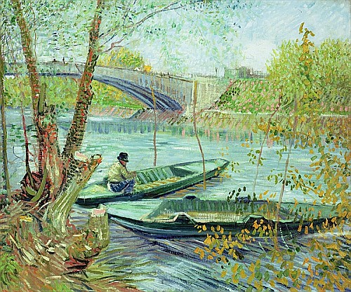 Vincent van Gogh - Fishing in the Spring. Pont de Clichy