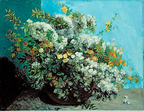 Gustave Courbet - Flowering Branches and Flowers