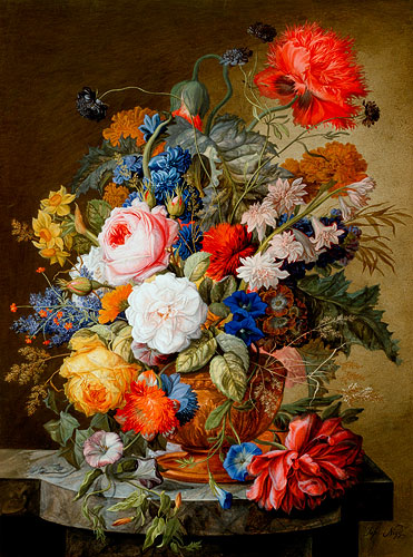 Order Painting Flowers Still Life By Joseph Nigg