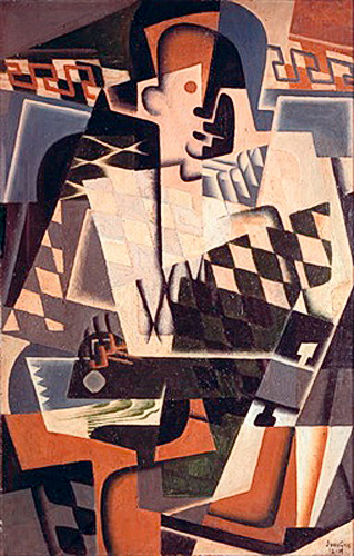 Juan Gris - Harlequin with a Guitar
