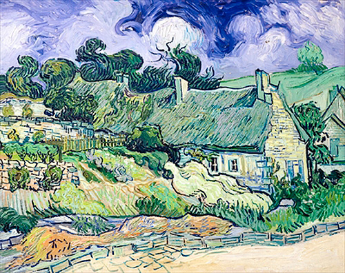 Vincent van Gogh - Houses with thatched roof in Cordeville near Auvers-sur-Oise