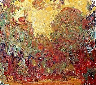 Claude Monet - The house in Giverny, composition in red