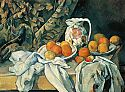 Still life with fruits and curtain