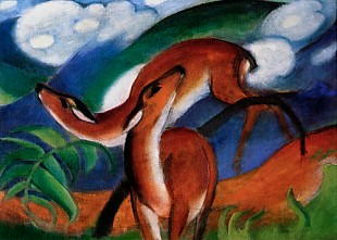 Franz Marc - The red deers II