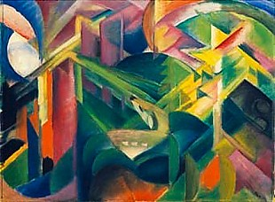 Franz Marc - Deer in the cloister garden