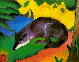 Franz Marc - Blue and black fox