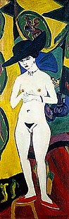 Ernst Ludwig Kirchner - Naked woman wearin a hat