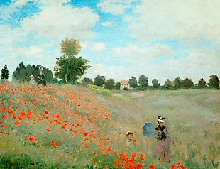 Claude Monet - Corn poppy in the area of Argenteuil
