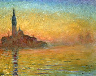 Claude Monet - While sunset in Venice