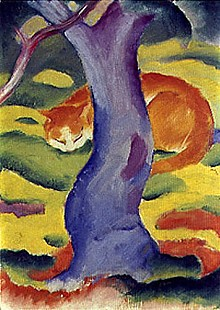Franz Marc - Cat behind a tree