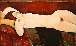 Amadeo Modigliani - Nude of sleeping women (Le Grand nu)