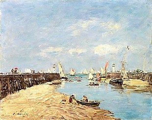 Eugéne Boudin - Trouville, the Jetty and the Basin