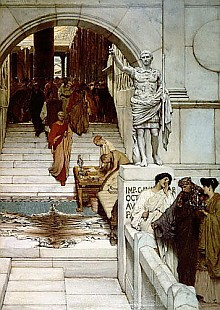 Sir Lawrence Alma-Tadema - An Audience at Agrippa's, 1875