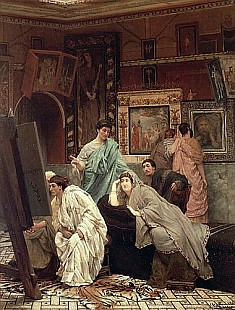 Sir Lawrence Alma-Tadema - A Collector of Pictures at the Time of Augustus, 1867