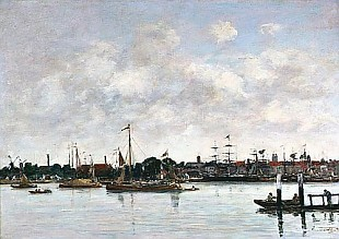 Eugéne Boudin - The Meuse at Dordrecht