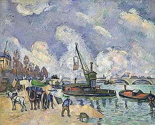 Paul Cézanne - Quai de Bercy, Paris