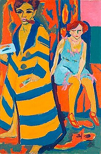 Ernst Ludwig Kirchner - Self portrait with artist's model