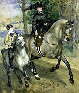 Pierre-Auguste Renoir - Horsewoman in the Bois de Boulogne