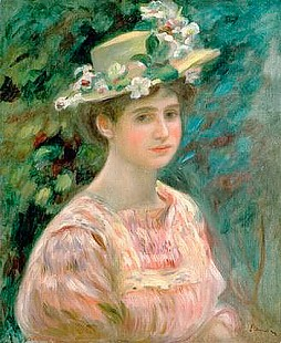 Pierre-Auguste Renoir - Girl with Eglantines on her Hat