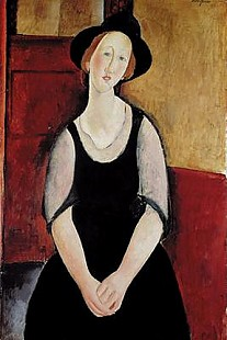 Amadeo Modigliani - Portrait of Thora Klinchlowstrom