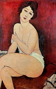 Amadeo Modigliani - Large Seated Nude