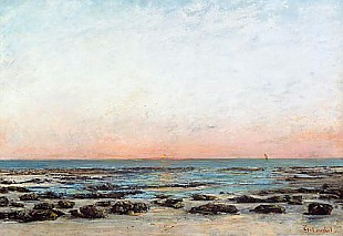 Gustave Courbet - Sunset, Trouville
