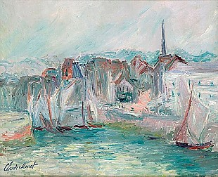Claude Monet - Boats in the Port of Honfleur