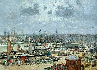 Eugéne Boudin - The Port of Bordeaux