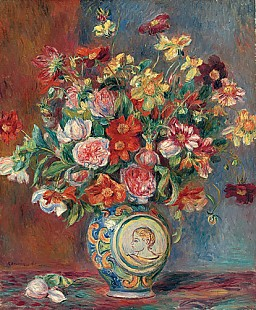 Pierre-Auguste Renoir - Vase with Flowers