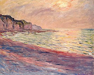 Claude Monet - The Beach at Pourville, Setting Sun