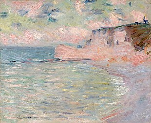 Claude Monet - Cliffs and the Porte d'Amont