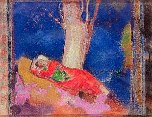 Odilon Redon - Woman Sleeping under a Tree