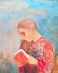 Odilon Redon - Monk Reading