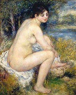 Pierre-Auguste Renoir - Bathing woman drying off her foot