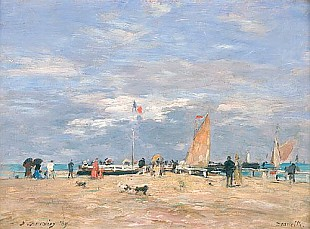 Eugéne Boudin - The Jetty at Deauville