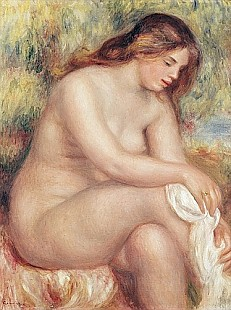 Pierre-Auguste Renoir - Bather Drying Herself