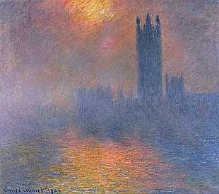 Claude Monet - London, the parliament. The sun breaks through the haze