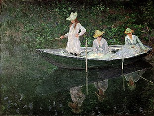 Claude Monet - The Boat at Giverny