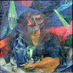 Umberto Boccioni - Composition with Figure of a Woman