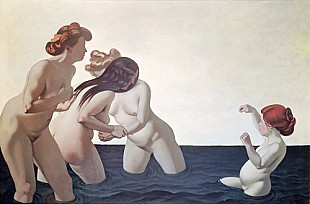 Felix Vallotton - Three Women and a Young Girl Playing in the Water
