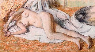 Edgar Degas - After the Bath or, Reclining Nude