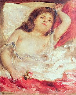 Pierre-Auguste Renoir - Semi-Nude Woman in Bed