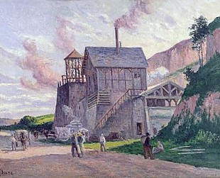 Maximilien Luce - Cement Factory at Vermenton