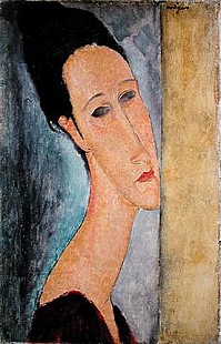 Amadeo Modigliani - Portrait of Jeanne Hebuterne