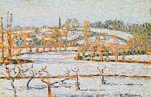Camille Pissarro - Effect of Snow at Eragny