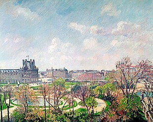 Camille Pissarro - The Garden of the Tuileries, Morning, Spring